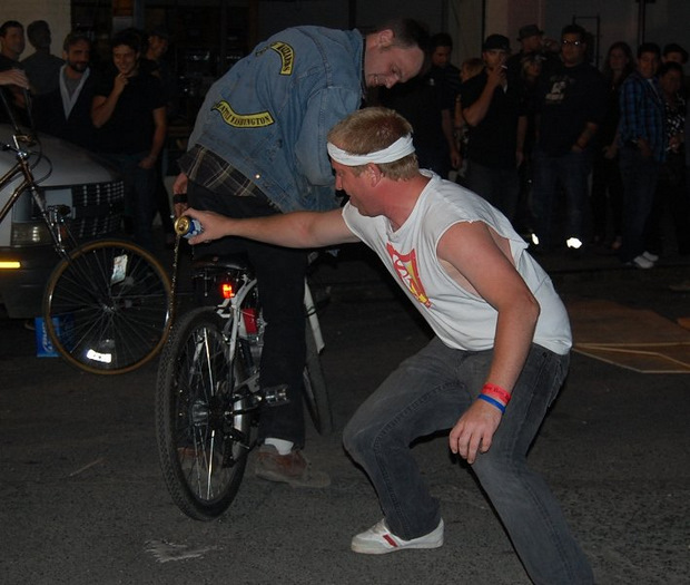 dead baby downhill electric bike beer burnout fail