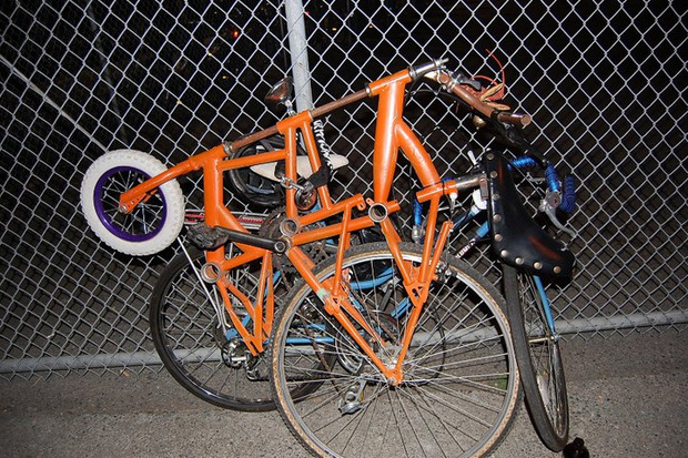 dead baby downhill orange tall bike